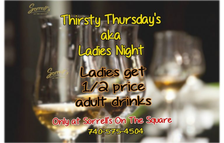 Ladies Night at Sorrell's On The Square on Thursdays!
